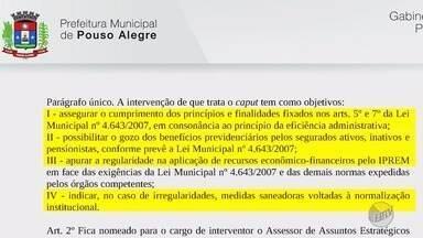 Prefeito de Pouso Alegre determina intervenção no Instituto de Previdência Municipal - Prefeito de Pouso Alegre determina intervenção no Instituto de Previdência Municipal