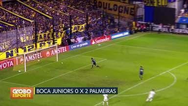 Libertadores: Palmeiras vence Boca Juniors e Flamengo empata com Santa Fe - Verdão faz 2 a 0 em La Bombonera e se garante na próxima fase. Flamengo fica no zero a zero em Bogotá.