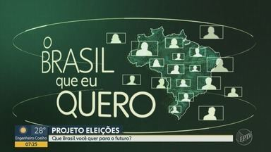 Que Brasil você quer para o futuro? Em outubro tem eleição e queremos ouvir você - Grave um vídeo contando suas expectativas para os próximos quatro anos e mande para nossa equipe. Confira como participar.