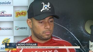 Botafogo-SP enfrenta o Cuiabá neste sábado (28) pelo Campeonato Brasileiro - Goleiro João Lucas fala sobre expectativas para a partida.
