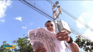Motoristas de Maringá na bronca com radar eletrônico sem sinalização - Em 23 dias motorista leva oito multas. o reforço na sinalização foi realizado no começo do mês.