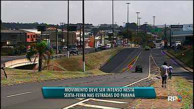 Movimento deve ser intenso nesta sexta-feira (27) nas estradas do Paraná - O horário de maior movimento é no fim da tarde de hoje (27) e no sábado (28) pela manhã.