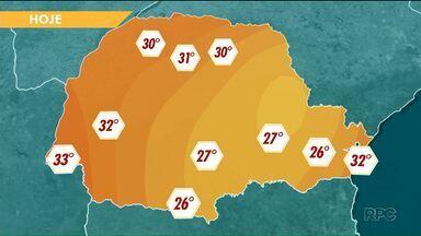 A previsão é de calor para o fim de semana - As temperaturas sobem durante o dia e o sol predomina.