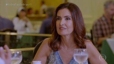 Angélica e Fátima continuam papo com Thiago em confeitaria - Confira!