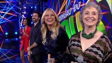Eriberto Leão e Luciana Fernandes enfrentam Ana Lucia Torre e Ellen Rocche no 'Ding Dong' - Faustão apresenta os atores de 'O Outro Lado do Paraíso'