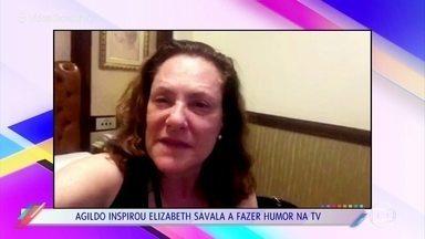 Elizabeth Savala relembra par românico com Agildo Ribeiro - Atriz lamenta a morte do comediante