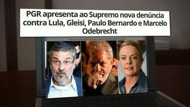 PGR apresenta nova denúncia contra Lula, Gleisi, Paulo Bernardo e Marcelo Odebrecht - Eles são acusados de receber propina da Odebrecht em troca de favores políticos.