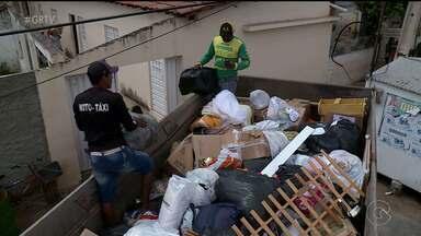 """Campanha """"Todos por Bodocó"""" entrega doações - Os caminhões levaram roupas, alimentos e eletrodomésticos para famílias que perderam tudo"""