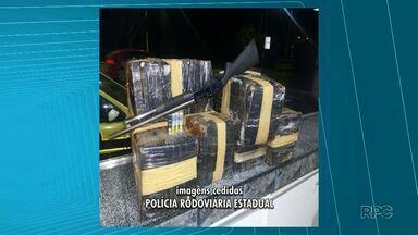PRE apreende 167 quilos de drogas em Pitanga - Droga estava jogada nas margens da estrada