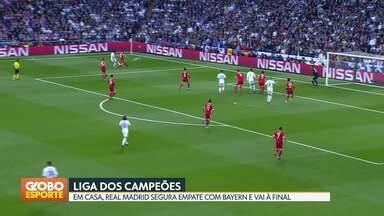 Real Madrid é o primeiro finalista da Liga dos Campeões - Time espanhol empata com o Bayern de Munique e se garante na decisão. Outro finalista sai hoje, no duelo entre Roma e Liverpool.