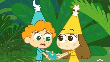 O Curioso Suflê de Banana - Stella anda misteriosa e Zip não consegue conter sua curiosidade. Ele não escuta o conselho da Vovó Trulli e convence Ring e Sun a seguir Stella. Na escola, eles encontram Copperpot e Athenina.