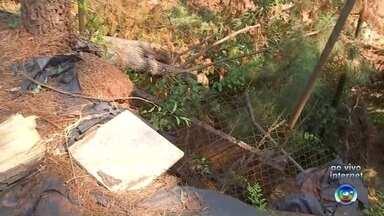 Erosão compromete estrutura do prédio de entidade em Bauru - Uma erosão na área do Ceagesp em Bauru (SP) está colocando em risco o prédio da Sorri. A parte externa, onde eram feitos tratamentos sensoriais com pacientes da entidade, já foi engolida pela cratera.