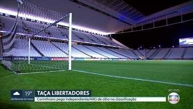Corinthians busca encaminhar classificação na Libertadores - Contra o Independiente, da Argentina, uma vitória na arena em Itaquera deixa time muito perto da vaga para as oitavas de final do torneio