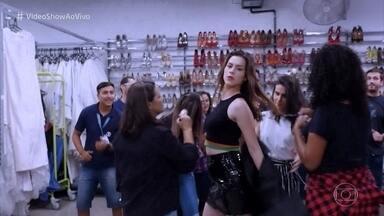 'Vídeo show' aceita o desafio do funk - Confira a bagunça que essa turma aprontou nos Estúdios Globo