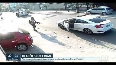 O RJ2 revela a mapa do roubo de veículos no Estado - Os bandidos preferem roubar veículos à noite, das 19h às 23h. São Gonçalo, Avenida Brasil, Belford Roxo e Zona Norte do Rio são as regiões mais perigosas. E um tiroteiro fechou a Avenida Brasil nos dois sentidos hoje à tarde