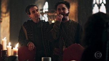 Rodolfo nomeia Petrônio como provador oficial - O rei escolhe o criado para se certificar de que não comerá nada envenenado