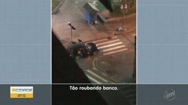 Grupo armado rouba banco e dispara tiros em Piracicaba - Moradores vizinhos da agência disseram que viveram momento de terror.