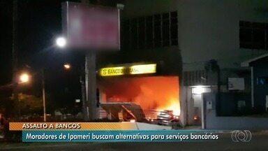 Moradores de Ipameri enfrentam dificuldades em pagar contas após bancos serem explodidos - As três agências da cidade foram fechadas e não há previsão de quando serão reabertas.