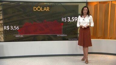 Dólar fecha na maior cotação em 2 anos - Na máxima, chegou a ser negociado a R$ 3,60.