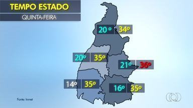 Confira a previsão do tempo para o estado nesta quinta-feira (10) - Confira a previsão do tempo para o estado nesta quinta-feira (10)
