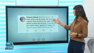 Jessica Senra recebe mensagens pelo Twitter - Confira os recados.