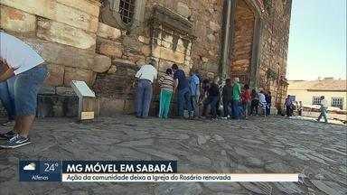 MG Móvel mostra iniciativa de moradores de Sabará que estão limpando a Igreja do Rosário - A repórter Cláudia Mourão mostra o trabalho dos moradores para conservar um patrimônio histórico da cidade.