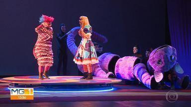 Recriação do espetáculo 'Alice no País das Maravilhas' está em cartaz em Belo Hoirizonte - Veja todas as atrações do MG Cultura para este fim de semana.