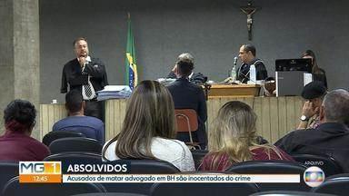 Dois acusados de participar da morte de um advogado em 2013 em BH são absolvidos - O julgamento foi nesta quinta-feira, em Belo Horizonte.