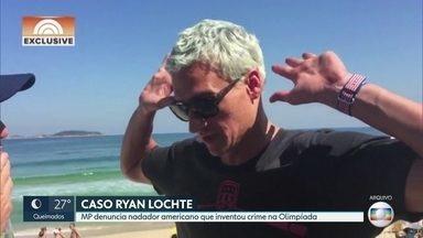 MP reabre caso de Ryan Lochte - Nadador americano foi denunciado por mentir sobre suposto assalto durante as olimpíadas do Rio em 2016.