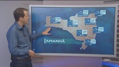 Veja como ficará o tempo em todas as regiões de SC neste sábado (12) - Veja como ficará o tempo em todas as regiões de SC neste sábado (12)