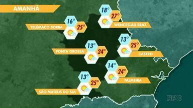 Tempo continua seco e com temperaturas amenas no final de semana - Confira a previsão do tempo para Ponta Grossa e região.