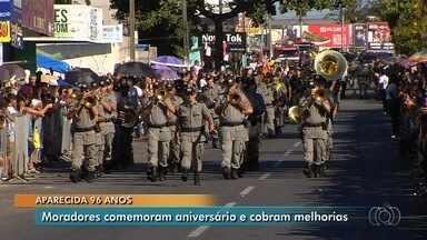 Aparecida de Goiânia comemora 96 anos - Aniversário da cidade foi comemorado com desfile cívico.