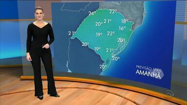 Tempo: temperaturas amenas devem atingir o RS no sábado (12) - Assista ao vídeo.