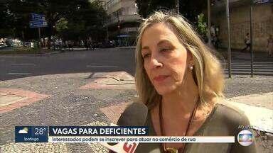 Deficientes com interesse em atuar no comércio podem se inscrever a partir desta segunda - Entrevista com a secretária municipal de Políticas Urbanas, Maria Caldas.