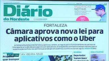 Confira a capa do Diário do Nordeste nesta quarta-feira (16) - Saiba mais em g1.com.br/ce