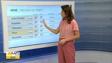 Clima esfria mais a partir da próxima semana; veja na previsão com Gislaine Ferreira - As temperaturas vão abaixar muito principalmente na Região Sul de Minas Gerais.
