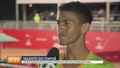 Morador do Itapoã conquista seu primeiro ponto no circuito internacional de tênis - Paulo André Saraiva, de 17 anos, disputou a competição no lugar de amigo que se lesionou.