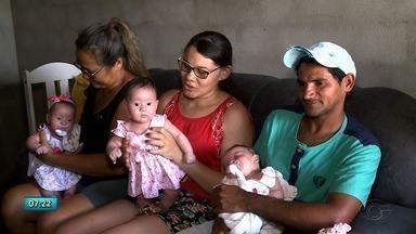 Conheça a história do casal que teve trigëmias em Craíbas - Confira a reportagem.