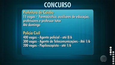 Confira as oportunidades em concursos na região de Presidente Prudente - Entre as chances estão os cargos de farmacêutico e agente policial.