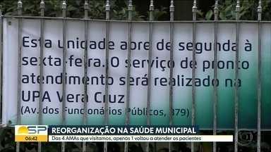 AMAs ainda estão fechadas na capital - Equipe do Bom Dia visitou 4 AMAs e apenas 1 voltou a atender pacientes.
