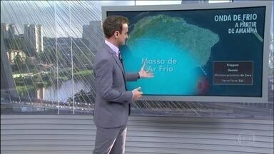 Primeira forte onda de frio do ano atinge o Brasil nesta sexta (18) - Tem risco de nevar entre sábado e domingo nas serras gaúcha e catarinense.