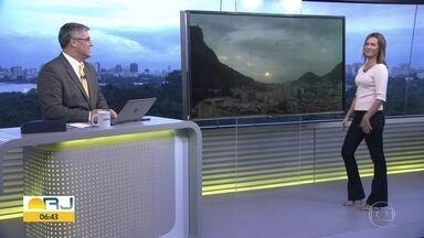 Confira a previsão do tempo para todo o estado nesta quinta-feira (17) - Previsão de chuva fraca no Rio.