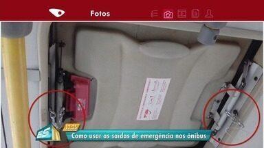 Confira como usar saídas de emergência nos ônibus, no ES - Gerente de Engenharia e Vistoria da Ceturb falou sobre saídas.