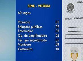 Confira vagas do Sine de Vitória - Há oportunidades para diversas áreas.