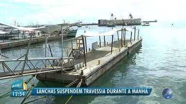 Travessia de lanchas é suspensa na manhã desta quinta-feira (17) - A suspensão aconteceu por conta da maré baixa; o funcionamento já voltou ao normal.