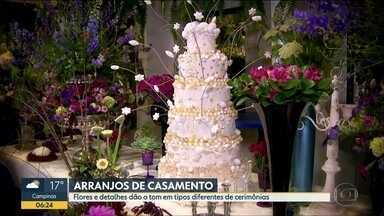 No Quadro Verde, Ananda Apple mostra os arranjos de flores para cerimônias de casamento - As flores e os detalhes dão o tom nos tipos diferentes de cerimônias. Telespectadores mandam fotos das suas flores e plantas em casa.
