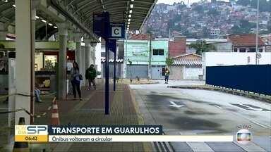 Greve de ônibus em Guarulhos - Paralisação afetou 100 mil passageiros na manhã desta sexta-feira