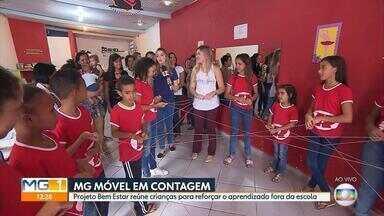 Grupo em Contagem ajuda crianças com atividades para reforçar aprendizado escolar - O MG Móvel foi conhecer este projeto que tem ajudado muitas crianças.