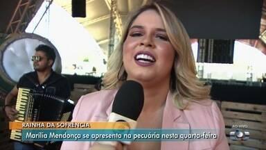 Marília Mendonça faz show na Pecuária de Goiânia - Cantora é conhecida como rainha da sofrência e está em destaque no cenário nacional.