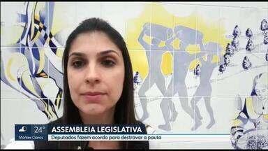 Acordo entre lideranças deve destravar pauta da Assembleia Legislativa de Minas Gerais - Vetos do governador devem ser apreciados para que a a pauta seja destravada. Nenhum projeto de lei foi apreciado este ano na casa.